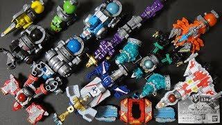 ガシャポン GSキュウボイジャー05 全3種 オリオンバトラー オリオンボイジャーがバトルオリオンシップと合体! 巨大ロボに変形 宇宙戦隊キュウレンジャー 塗装 レビュー Kyuranger thumbnail