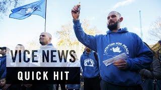 British War Veterans Demonstrate Against Syria Airstrikes: VICE News Quick Hit