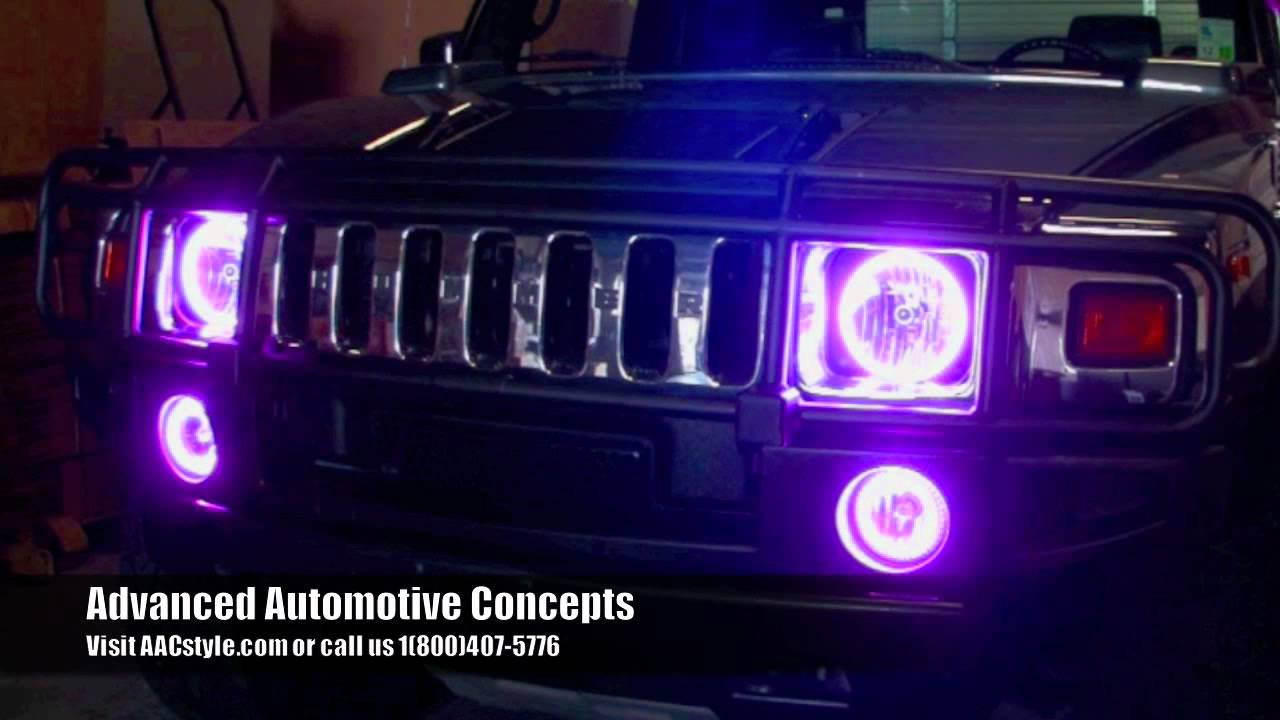 Hummer H2 Oracle Colorshift Halo Installation By Advanced