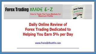 Forex Profit Strategy earns 8 pips per day for a week