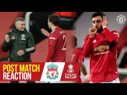 Solskjaer, Lindelof & Fernandes react to Liverpool win | Manchester United 3-2 Liverpool | FA Cup
