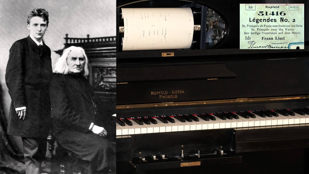 Bernhard Stavenhagen plays Liszt Legende No. 2 (before ...