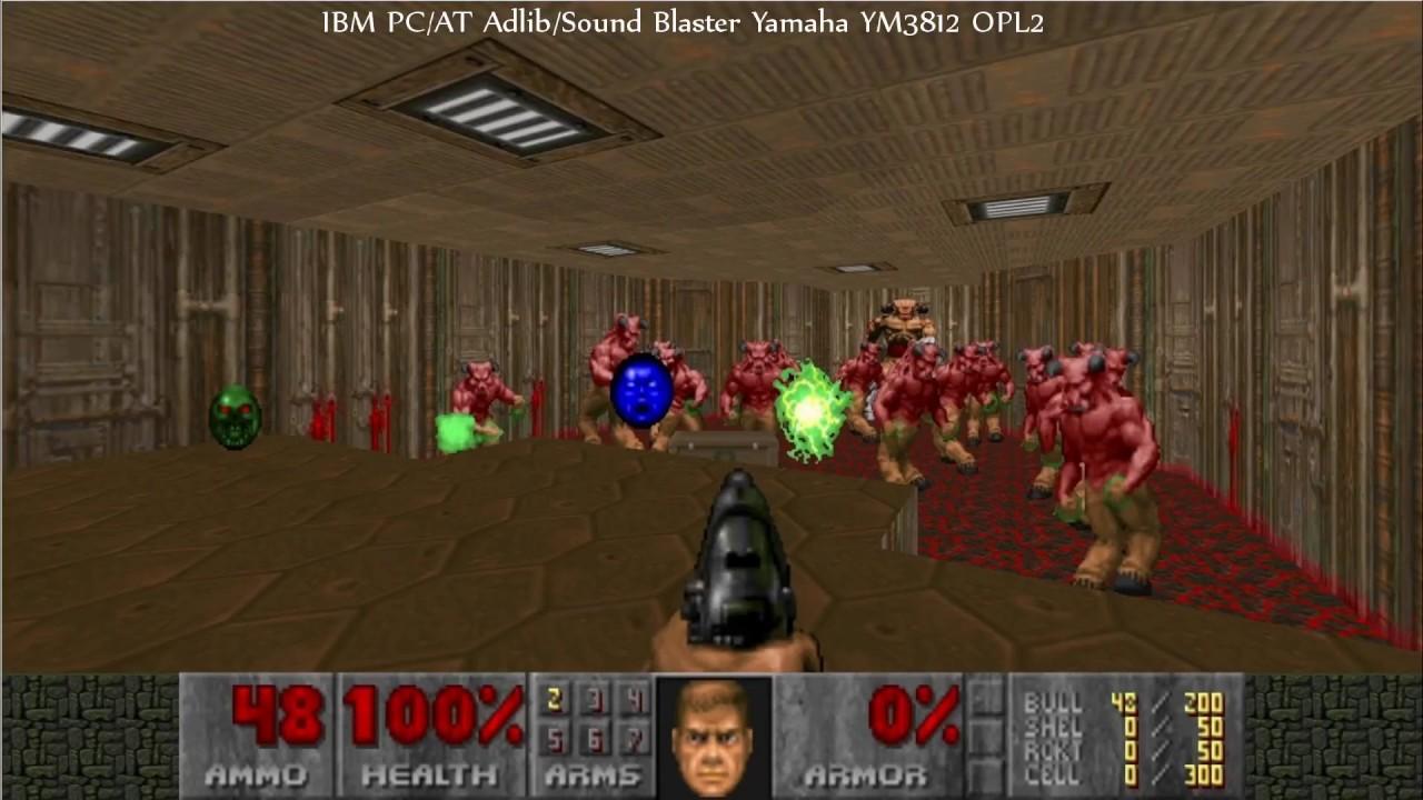 Doom 2 Music Comparison - The Dave D  Taylor Blues: Roland SC-55,  Adlib/Sound Blaster, PC-9801-86