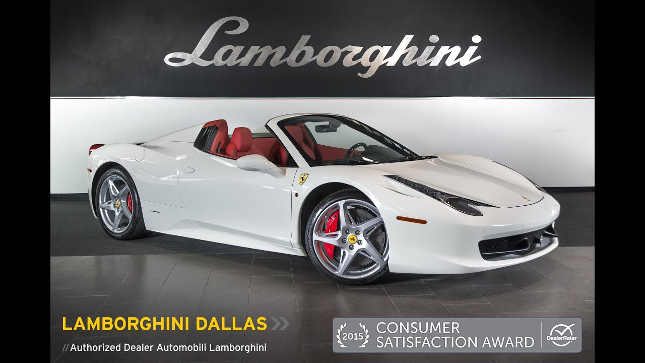 2013 ferrari 458 italia spider gloss white l0783 youtube vanachro Choice Image