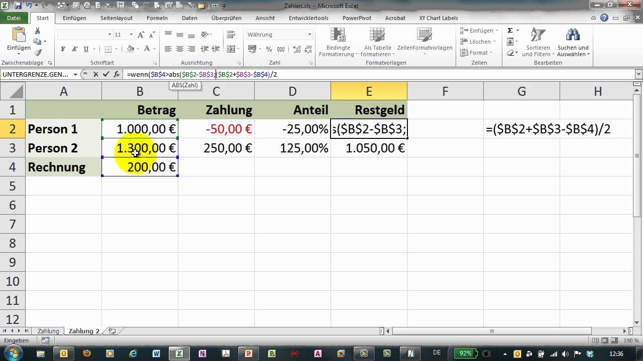 Ungewöhnlich Excel Rechnungsvorlage 2007 Ideen - Beispiel Business ...