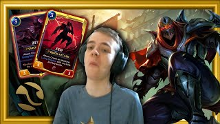 ZED Feels SO STRONG! Legends of Runeterra Gameplay (Riot's LoL Based Card Game) Video