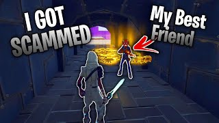 my BEST FRIEND scammed my Inventory... 😓 (Scammer Gets Scammed) In Fortnite Save The World