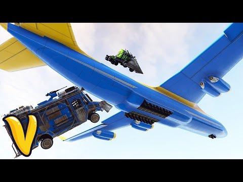 GTA 5 CARGO PLANE DEMOLITION DERBY!!! :: GTA 5  Stunts Funny Moments!