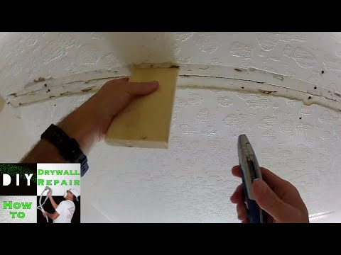 How To Ceiling Repair Trick Ceiling Sagging? Tape Joint Cracking? Part 1