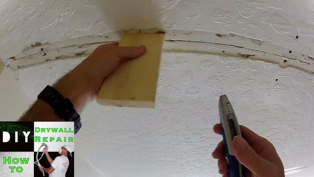 How To Ceiling Repair Trick Ceiling Sagging Tape Joint