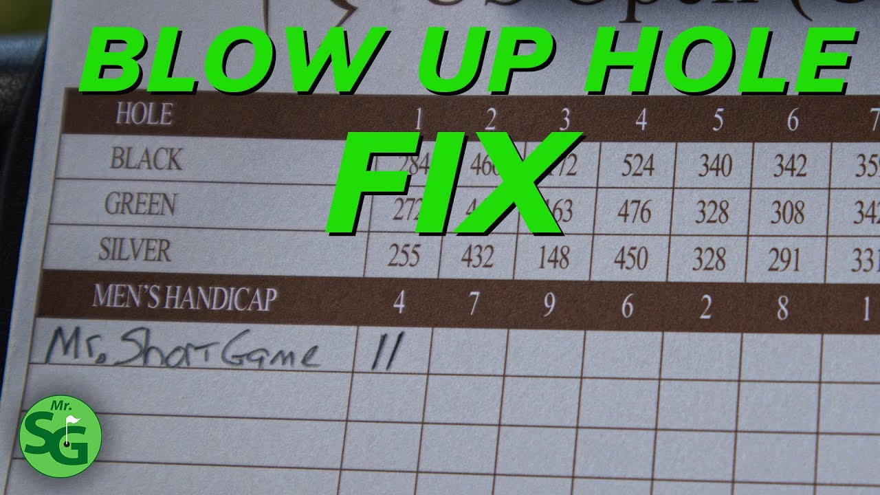Blow Up Hole Fix on the Golf Course