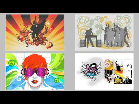 Colorful Vector Art Music  Slideshow
