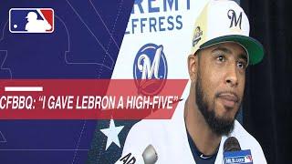 Jeremy Jeffress on high-fiving LeBron James