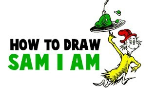 How to Draw Sam I Am from Green Eggs and Ham by Dr. Seuss