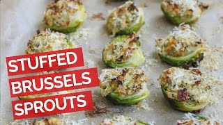 Garlic And Herb Stuffed Brussels Sprouts Recipe