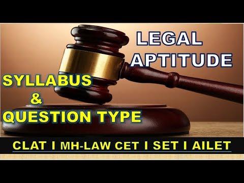 LEGAL APTITUDE SYLLABUS AND QUESTION TYPE (CLAT | MH LAW-CET | SET | AILET))