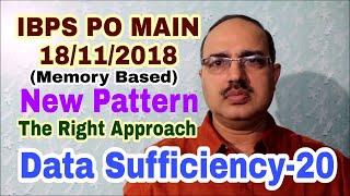 Data Sufficiency-20 IBPS PO MAIN: 18-11-2018 Memory Based #Amar Sir