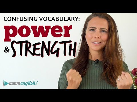 POWER or STRENGTH? 💪🏼 Confusing English Vocabulary