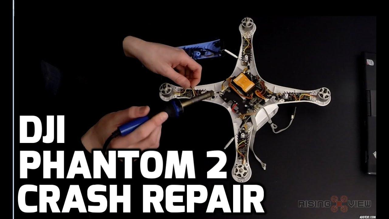 Dji Phantom 2 Drone Crash Repair Body Shell Replacement Zenmuse H3 Vision Central Circuit Board Rc Hobbies 3d Upper Bracket Youtube