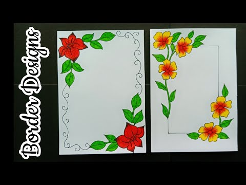 How To Make Easy Border Designs Border Designs For School
