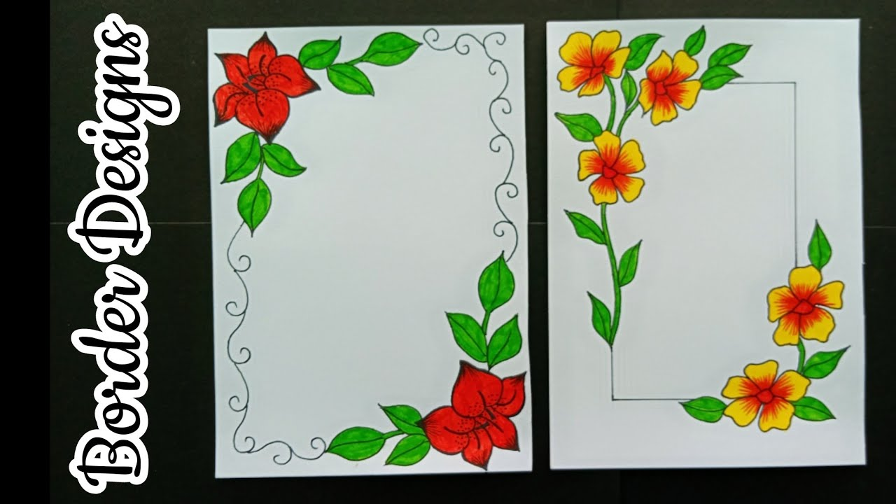 how to make easy border designs  border designs for school