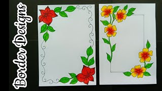 How To Make Easy Border Designs Border Designs For School Project Border Design For File Decoration Youtube