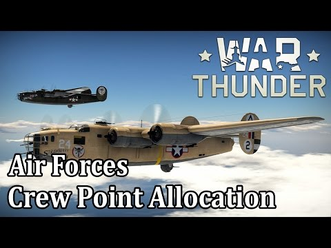 War Thunder - Air Forces - Crew Point Allocation