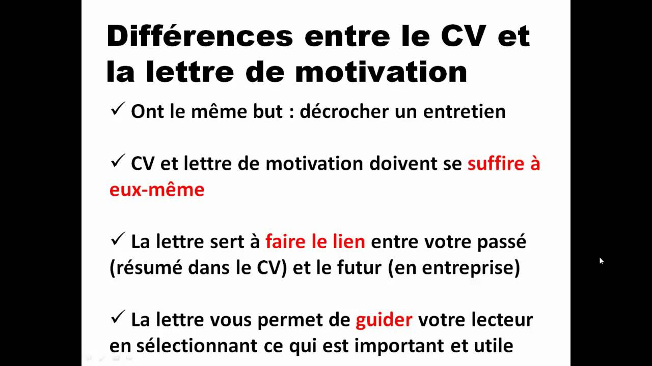 lettre de motivation cv suisse