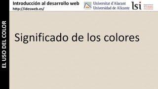 El uso del color: Significado de los colores