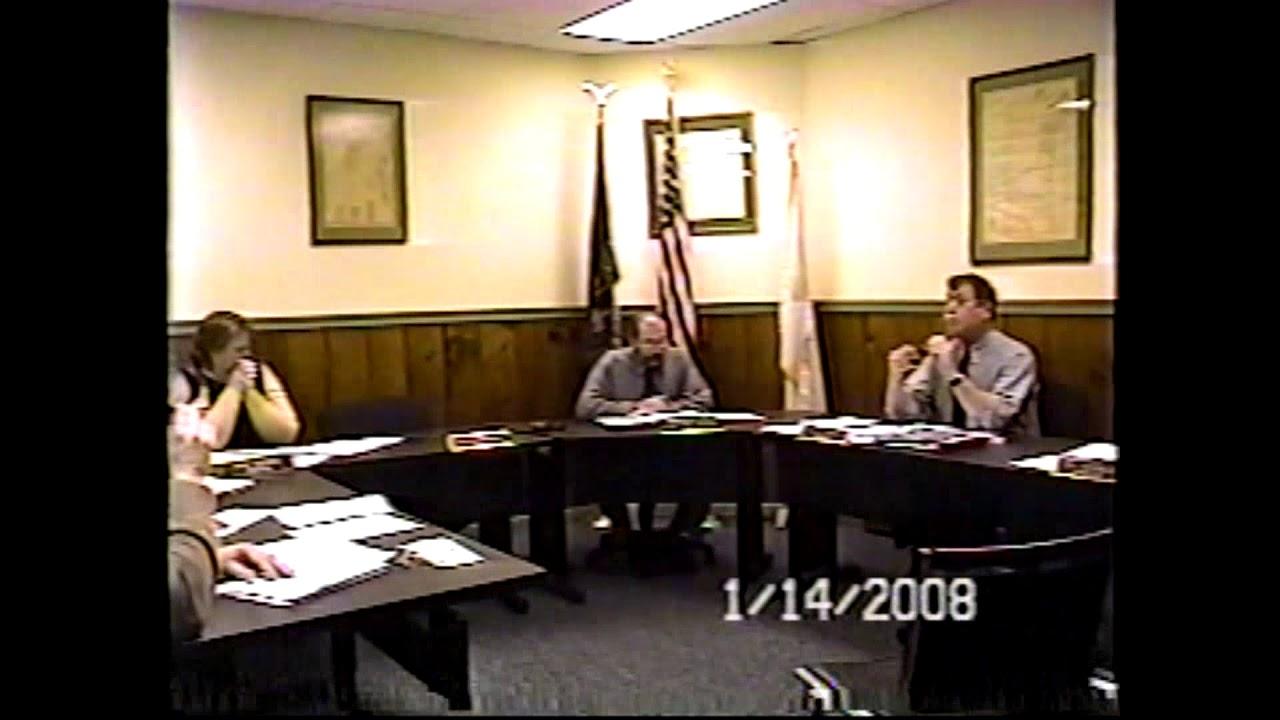 Champlain Village Board Meeting  1-14-08