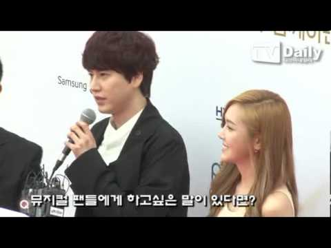 130603 Jessica & KyuHyun - Red Carpet Interview @ 7th The Musical Awards