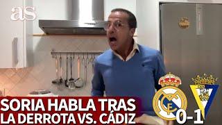 REAL MADRID 0- CÁDIZ 1 | El discurso de CRISTÓBAL SORIA acordándose de ZIDANE y VINICIUS | Diario AS