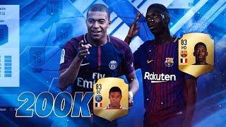 2# LA MEJOR PLANTILLA POR 200k MONEDAS | FIFA 18 |