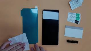 휴대폰보호필름 부착가이드 (3번 스티커 제품)