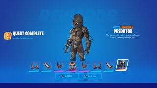 TIPS TO DEFEAT PREĎATOR (How To EASILY Unlock The Predator Skin In Fortnite)