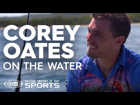 Corey Oates Takes To The Open Water | NRL On Nine