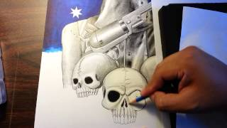 How to draw Ned Kelly 6