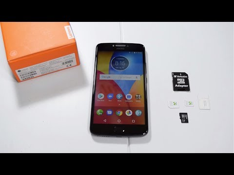 MOTO E4 PLUS How To Install The Simcard And The Micro SD HD