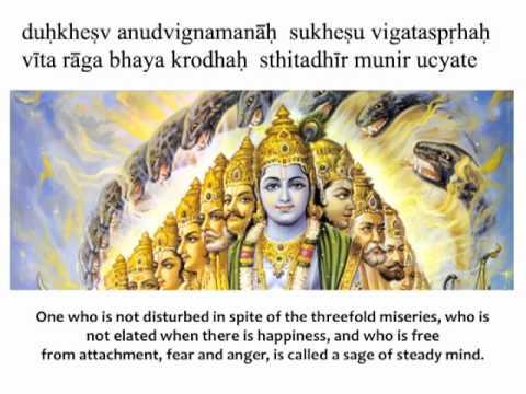 Bhagavad Gita Chapter 2 Verse 56 Youtube