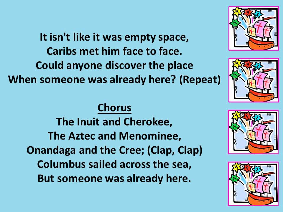Columbus Song 1492 Youtube