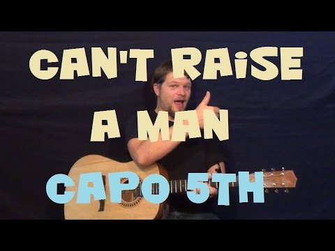 Can't Raise A Man (K. Michelle) Easy Strum Guitar Lesson How to Play Tutorial Capo 5th