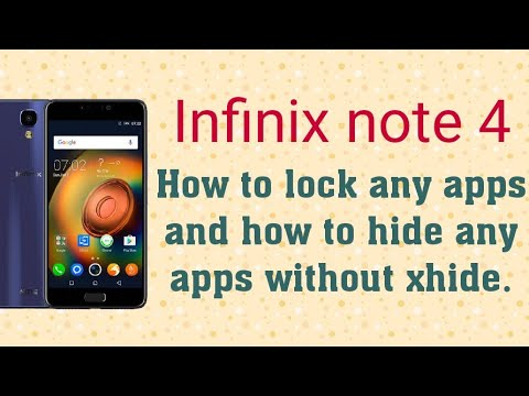 Infinix note 4 Oreo update  tricks to hide apps without xhide