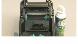 cleaning of zebra gt800 and gt820 barcode printer