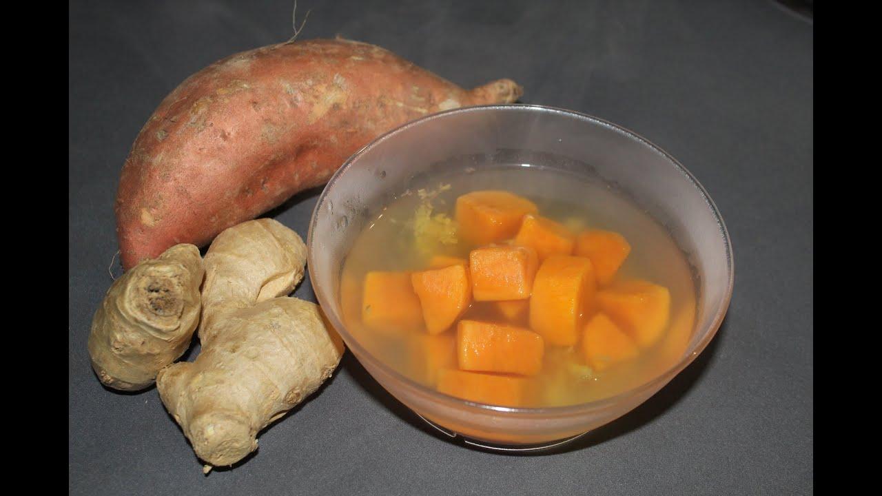Ceai de Ghimbir cu Cartof Dulce   reteta de ceai Asiatic
