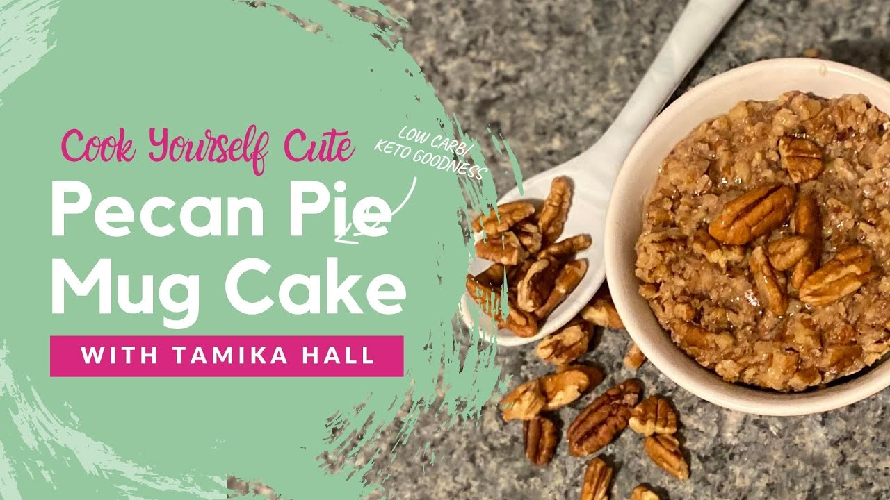 Keto Low Carb Pecan Pie Mug Cake
