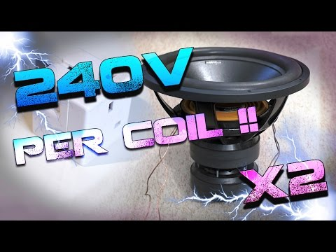 "18"" SMD WOOFER 240 VOLTS PER COIL !  (Round2)"