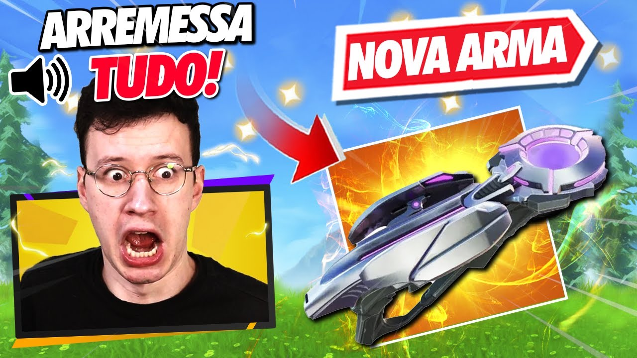 A *NOVA* ARMA ARREMESSA TUDO!! (quebrada?) - FORTNITE