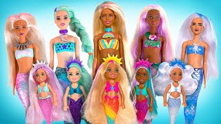Mermaids And Merpets Are Here! BIG Barbie Color Reveal Unboxing
