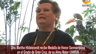 San Marcos rinde honor a distinguida Lingüista Dra. Martha Hildebrandt