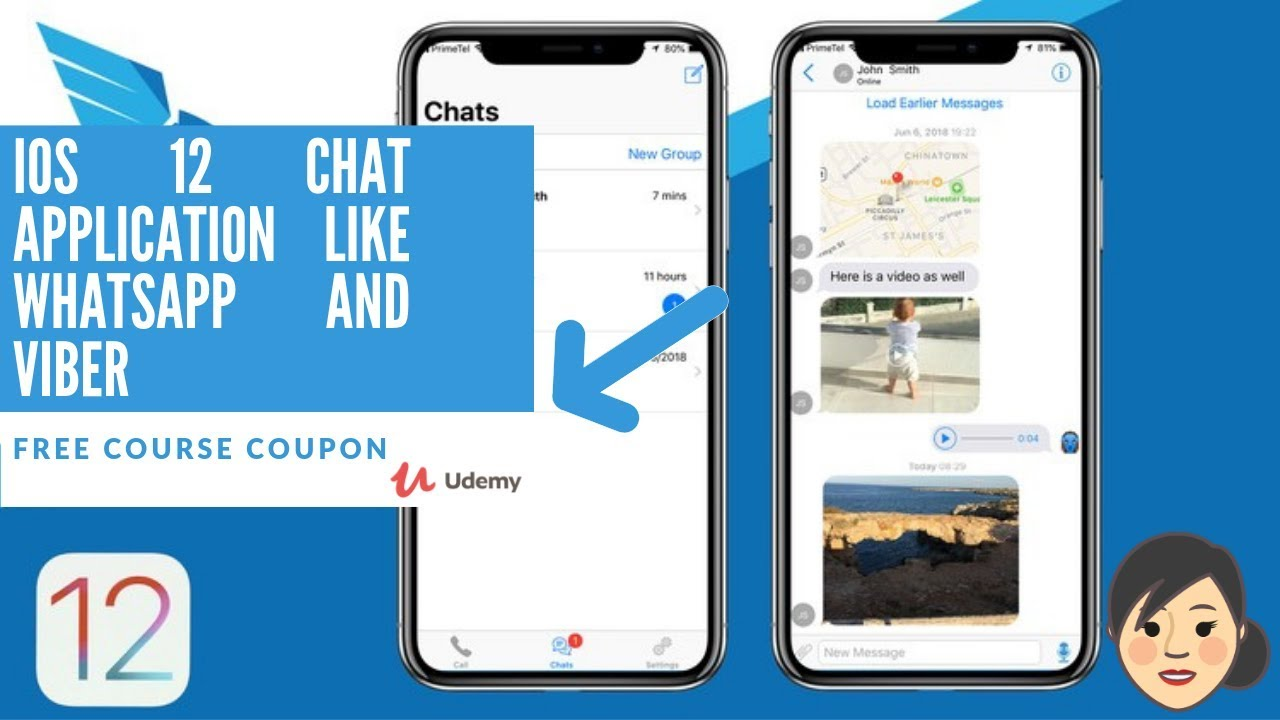 Udemy iOS 12 Chat Application like WhatsApp and Viber | Free Udemy Course  Coupon  Limited Quantities